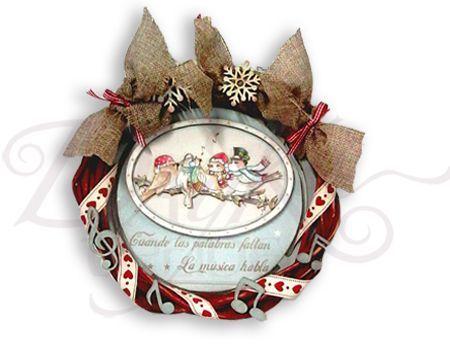 Corona Pajaros Navidad