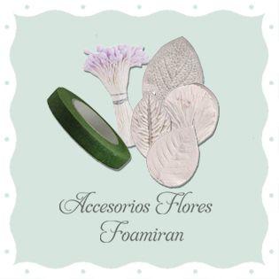 Accesorios flores Foamiran